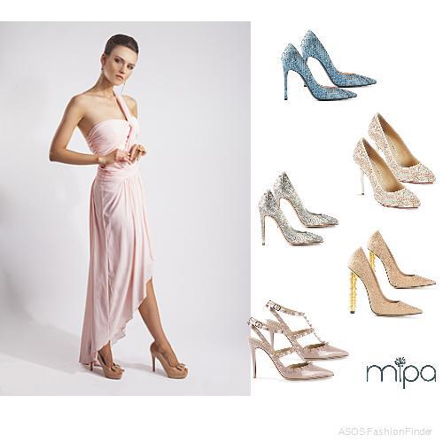 Zapatos para vestido largo rosa