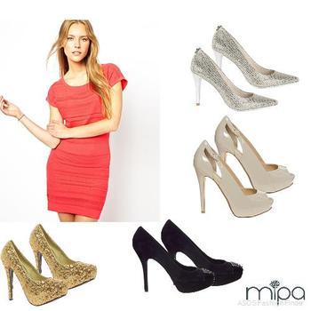 Zapatos Para Vestido Rojo Mipa Fashion
